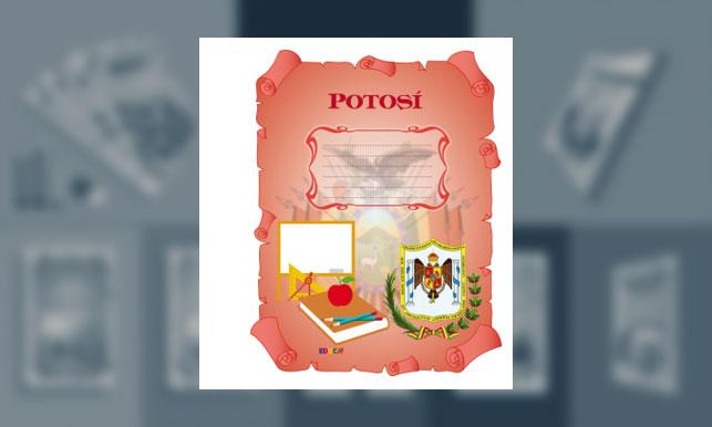 Carátula del Departamento de Potosí (tamaño carpeta)