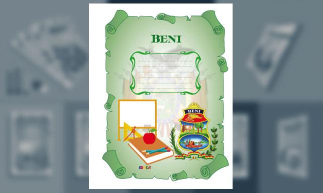 Carátula del Departamento del Beni (tamaño carta)