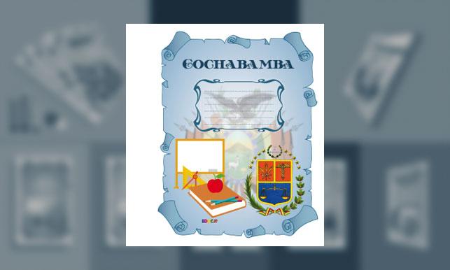 Carátula del Departamento de Cochabamba (tamaño carpeta)