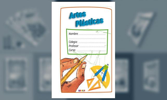 Carátula - Artes Plásticas con trazos a lápiz (Tamaño Oficio)