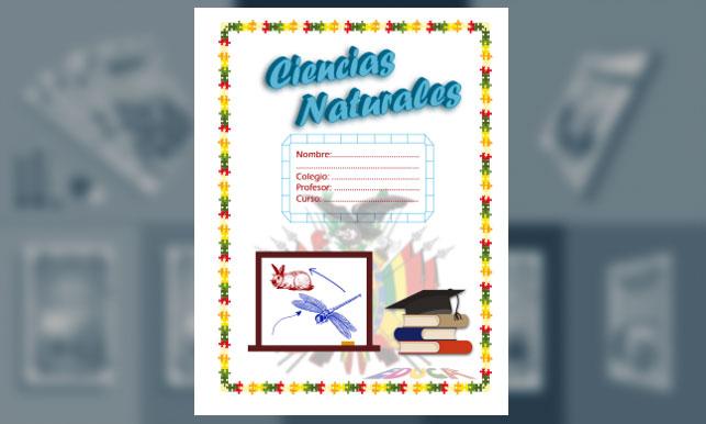 Carátula De Ciencias Naturales (tamaño Carta