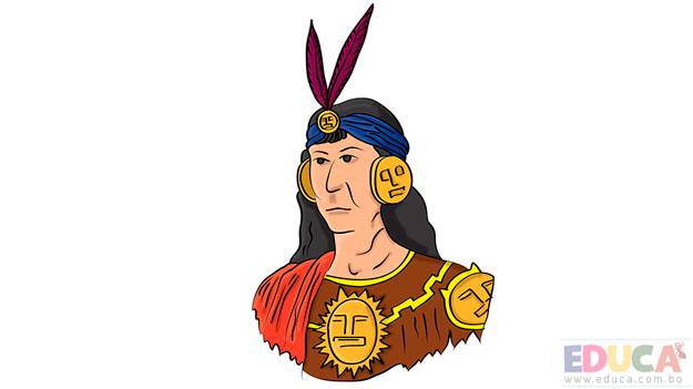 Dibujo de Inca a colores