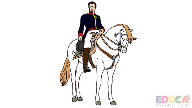 Dibujo del Libertador Simón Bolívar