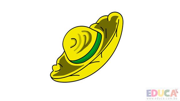 dibujo de sombrero de sao