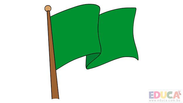 Dibujo de bandera de Beni a color - educa.com.bo