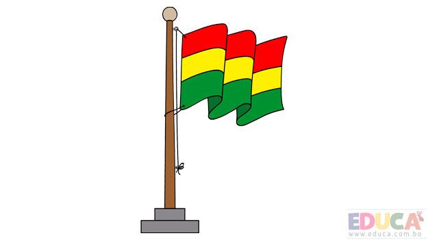 Dibujo de bandera de Bolivia a color - educa.com.bo