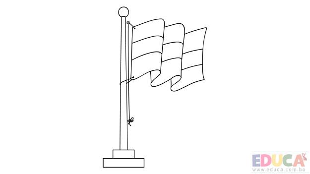 Dibujo de bandera de Bolivia para colorear - educa.com.bo