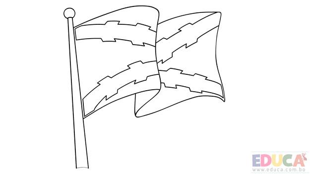 Dibujo de bandera de Chuquisaca para colorear - educa.com.bo