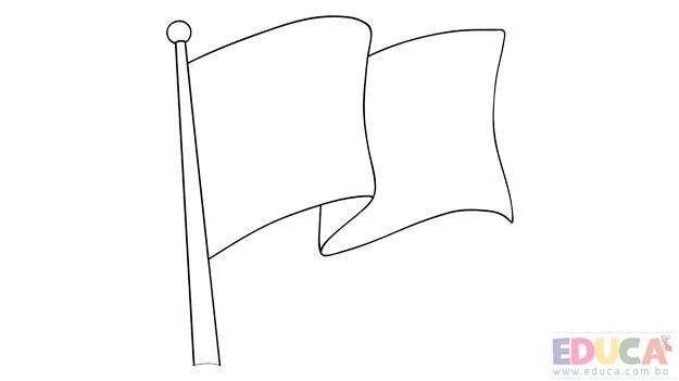Dibujo de bandera de Cochabamba para colorear - educa.com.bo