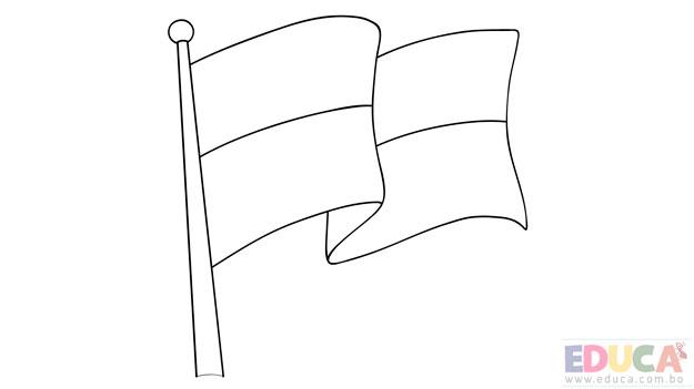 Dibujo de bandera de La Paz para colorear - educa.com.bo