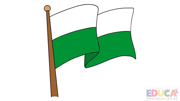Dibujo de bandera de Pando a color - educa.com.bo
