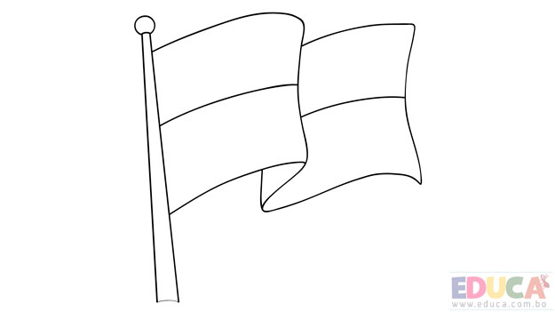 Dibujo de bandera de Pando para colorear - educa.com.bo