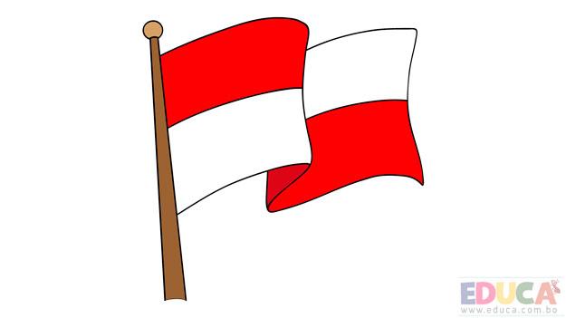 Dibujo de bandera de Potosi a color - educa.com.bo