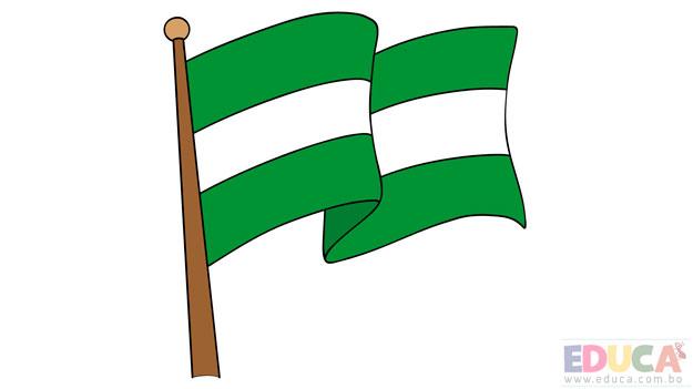 Dibujo de bandera de Santa Cruz a color - educa.com.bo