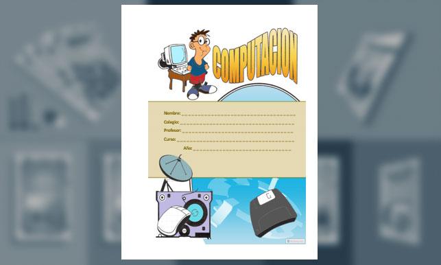 Carátula de Computación (Hoja Tamaño Carta)