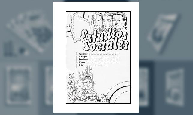 Carátula de Estudios Sociales (Tamaño carta)