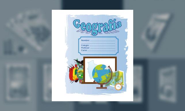 Carátula de Geografía (tamaño carpeta)
