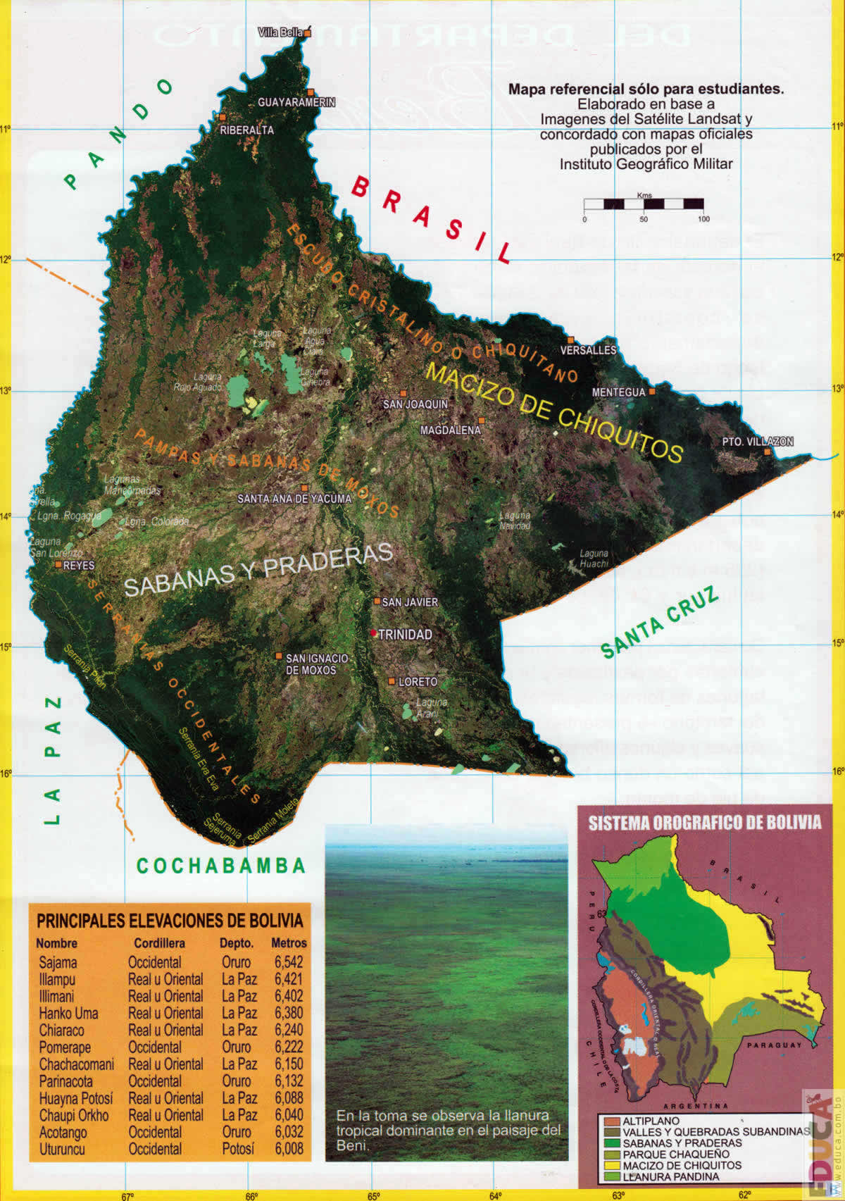 Mapas De Bolivia Y Láminas Historia Literatura Educación De