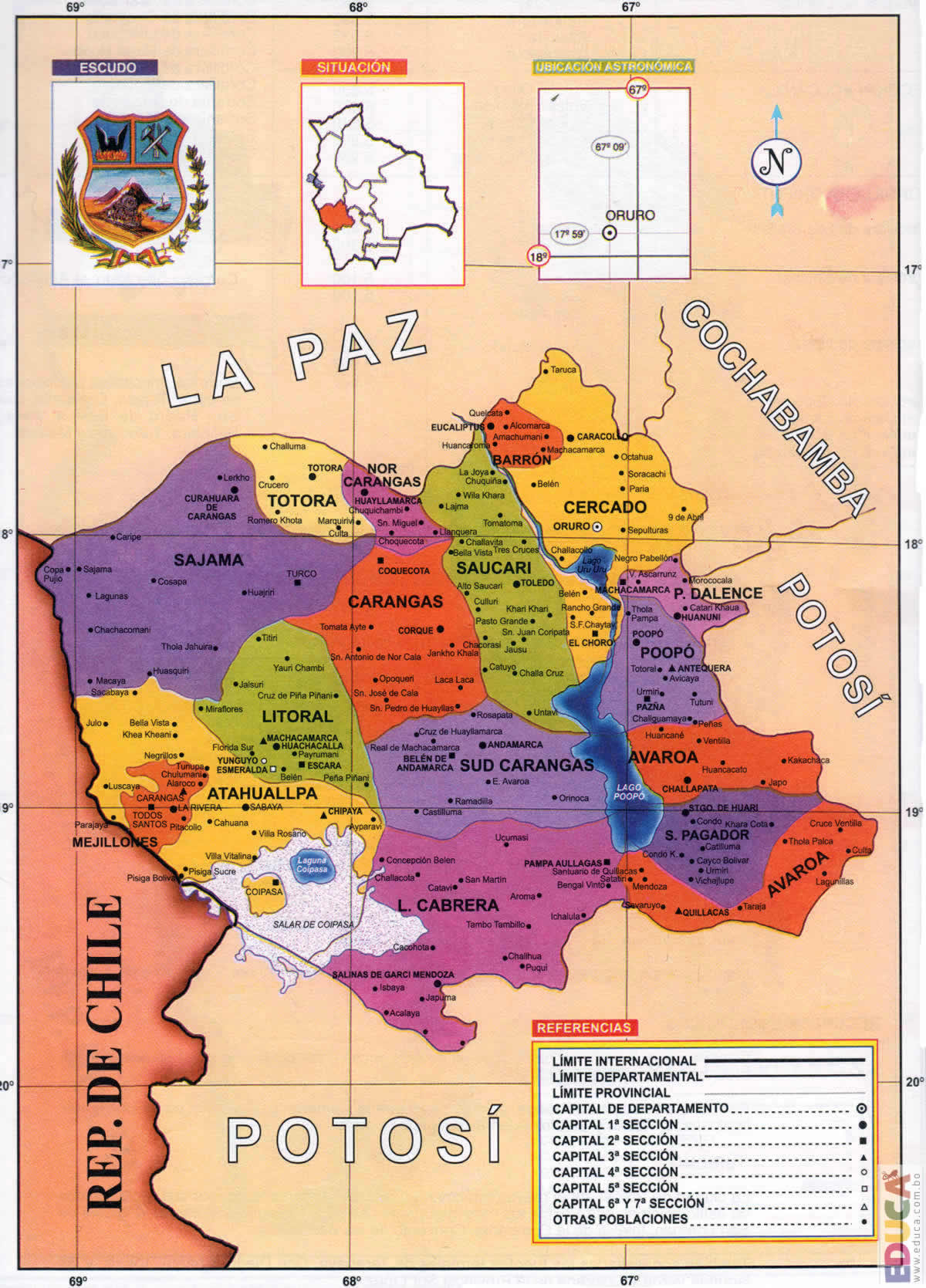 Departamento de Oruro  Geografa  Historia Literatura