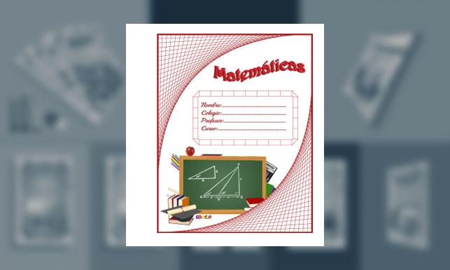 Carátula de Matemáticas (tamaño carpeta)