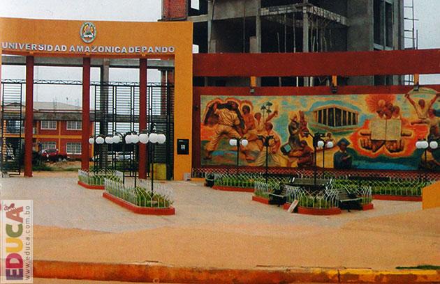 Plaza universitaria municipio de cobija jard n for En que universidades hay arquitectura