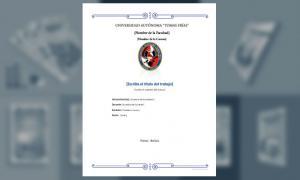 Carátula, Universidad Autónoma Tomás Frías 2