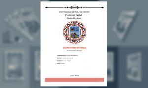 Carátula, Universidad Técnica de Oruro (UTO) 2