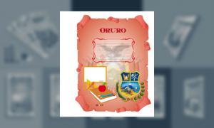 Carátula del Departamento de Oruro (tamaño carpeta)