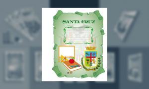 Carátula del Depto de Santa Cruz (tamaño carpeta)