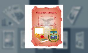Carátula del Departamento de Chuquisaca (tamaño carpeta)