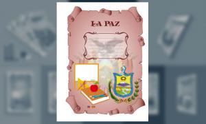 Carátula del Departamento de La Paz (tamaño carta)