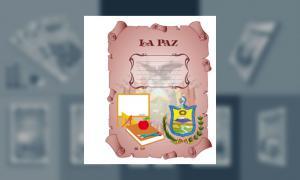Carátula del Depto de La Paz (tamaño carpeta)