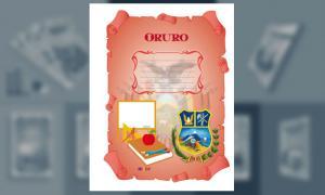 Carátula del Departamento de Oruro (tamaño carta)