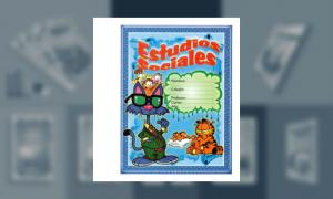 Carátula de Estudios Sociales (tamaño hoja de carpeta)