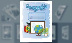 Carátula de Geografía (tamaño carta)