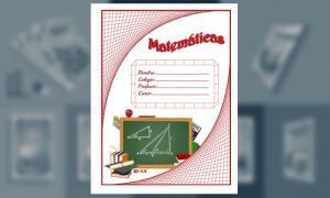 Carátula de Matemáticas (tamaño carta)
