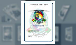 Carátula - Universidad Pública de El Alto (UPEA)