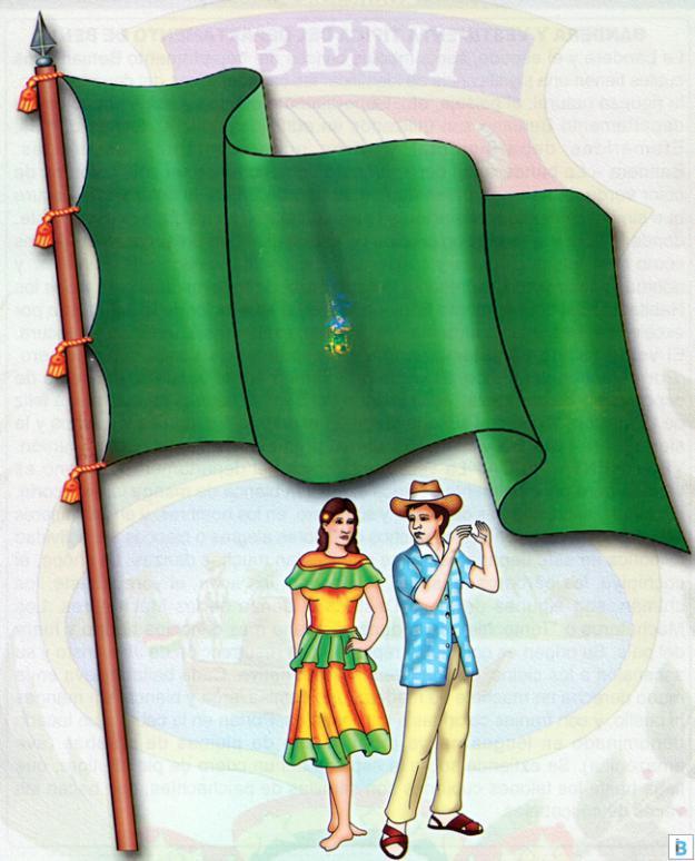 bandera y vestimenta típica de beni