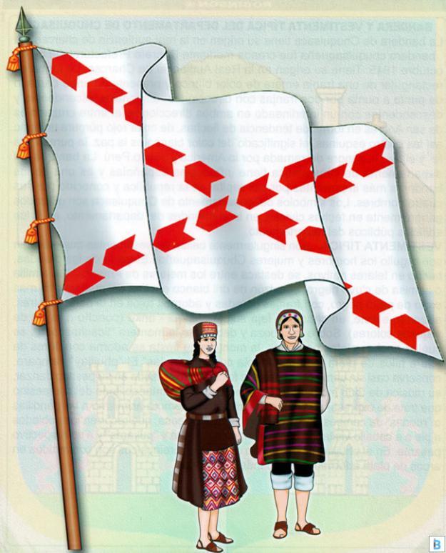 bandera y vestimenta típica de chuquisaca