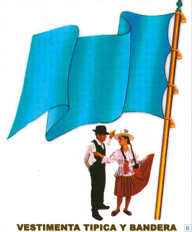 bandera y vestimenta típica de cochabamba