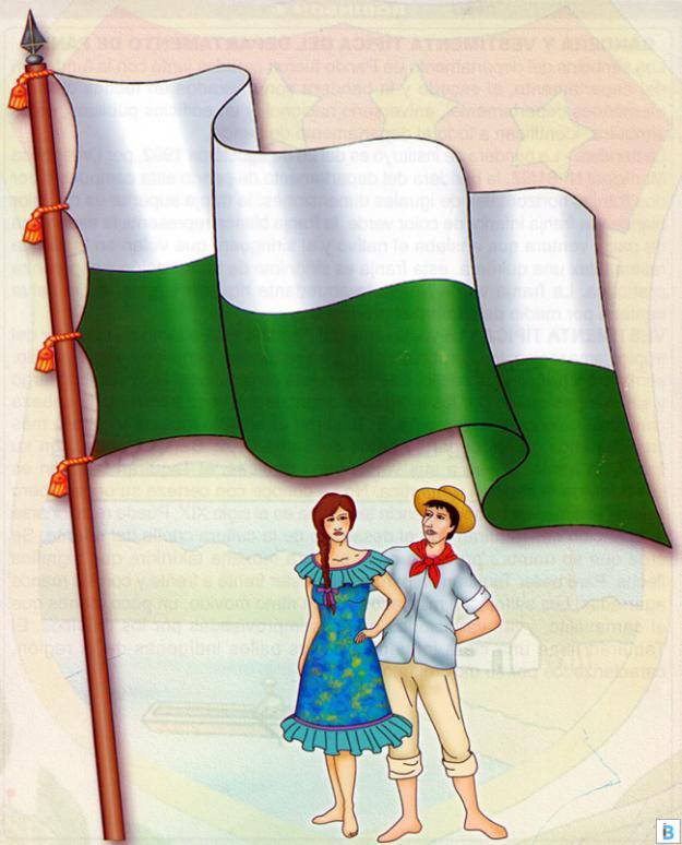bandera y vestimenta típica de pando