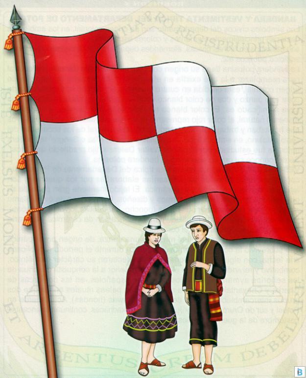 bandera y vestimenta típica de potosí