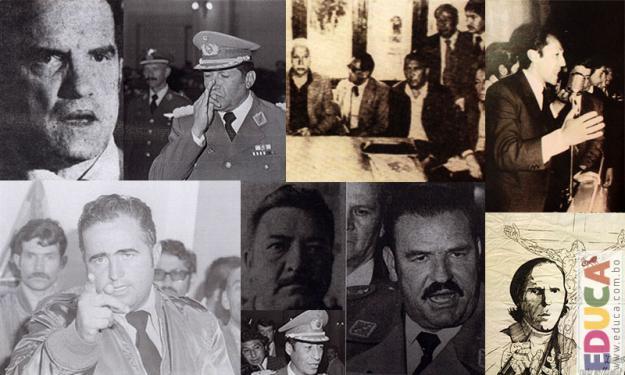 Fin de la dictadura en Bolivia 1978-1982