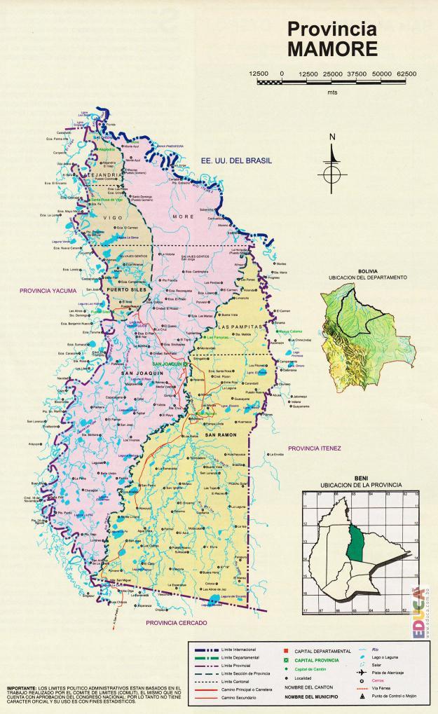 Mapa Provincia Mamoré - Beni Bolivia