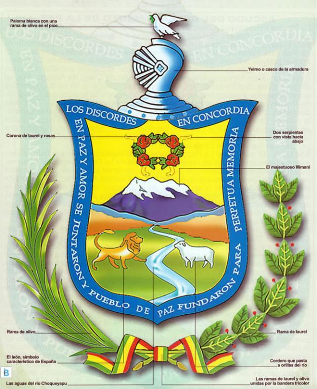 Escudo del departamento de La Paz