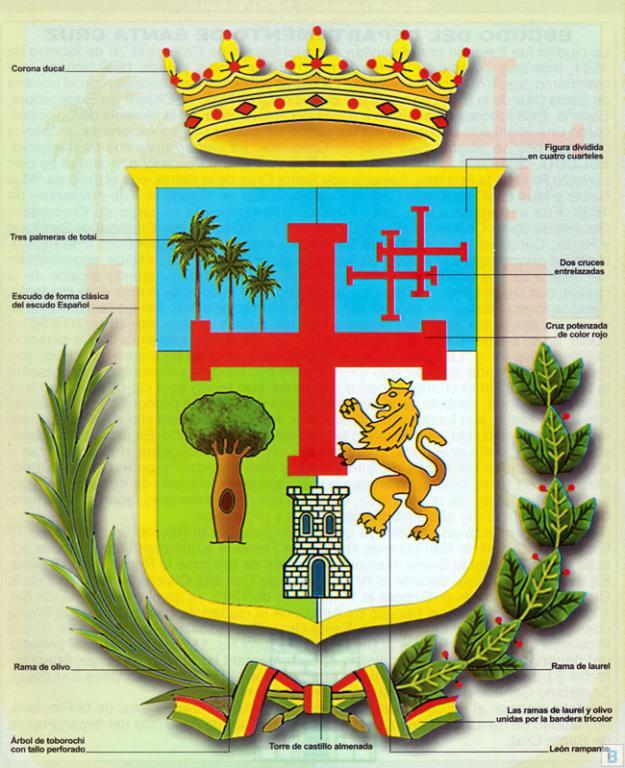 Escudo del Departamento de Santa Cruz