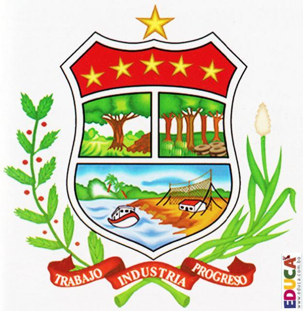 Escudo de Pando - Cobija jardín amazónico