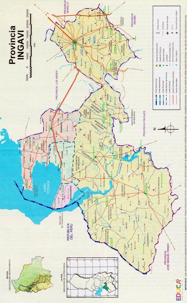 Mapa Provincia Ingavi - La Paz Bolivia