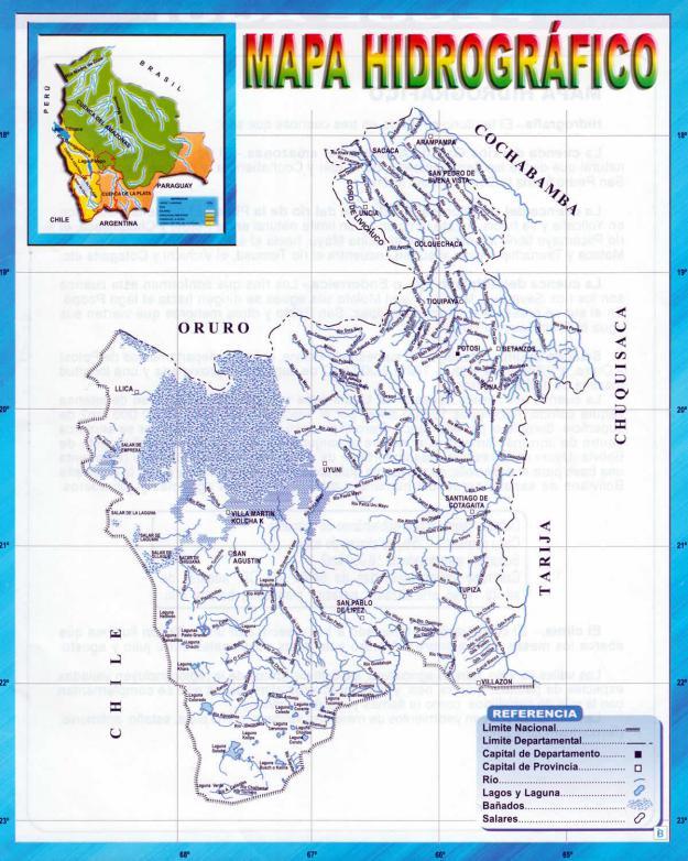Mapa hidrográfico del Departamento de Potosí - Mapas de Bolivia