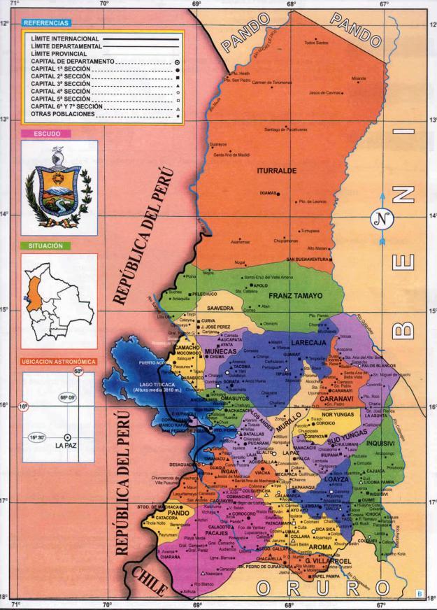 Mapa Político del Departamento de La Paz - Mapas de Bolivia